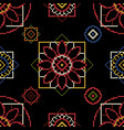 cross stitch for fabric vector image vector image