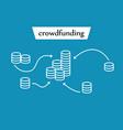 crowdfunding cash receipts vector image