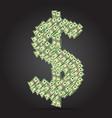 dollars in the form dollar dollar vector image
