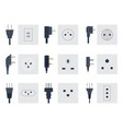 electric outlet energy socket vector image vector image