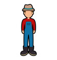 farmer avatar character icon vector image vector image