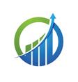 finance logo vector image vector image