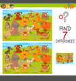 find differences game with dogs animal characters vector image vector image
