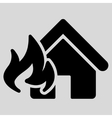Fire Damage icon from Business Bicolor Set vector image