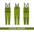 fishing waders isolated vector image vector image