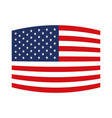 flag united states of america wave out design vector image vector image