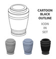 funeral urns icon in cartoon style isolated on vector image vector image
