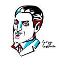 george gershwin portrait vector image vector image