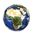 globe africa continent vector image vector image