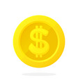 gold coin american dollar in flat style vector image