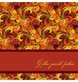 Golden orange and red peacock feathers pattern vector image