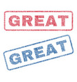 great textile stamps vector image vector image