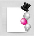 greeting card realistic balloons and vector image