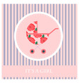 greeting card to newborn baby it s a girl vector image vector image