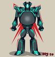 Grey Grunge Robot vector image vector image