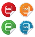 In pack 100 sheets sign icon 100 papers symbol vector image