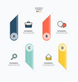 infographic and icons for business on white vector image vector image