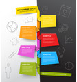 infographic timeline report template made from vector image vector image