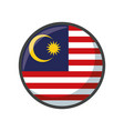 isolated malaysia flag icon block design vector image