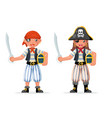 kids boy girl pirate adventure party sailor vector image vector image