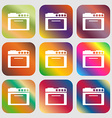 kitchen stove icon vector image