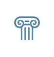 Letter T Roman column logo icon design template vector image vector image