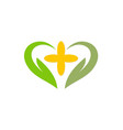 love abstract green ecology logo vector image