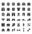 male clothes and accessories solid icon set 1 vector image vector image