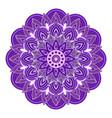 mandala design with decorative geometric ornament vector image