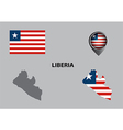 Map of Liberia and symbol vector image vector image