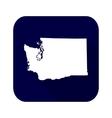 map us state washington vector image vector image