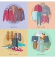 Men s Clothing Outerwear Mens Look Mens Shoes vector image