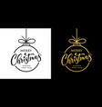 merry christmas design black and gold vector image vector image