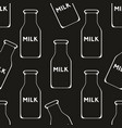 milk seamless pattern on a black background vector image vector image