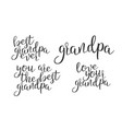 modern calligraphy ink of word grandpa vector image