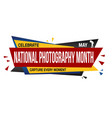 national photography month banner design vector image vector image