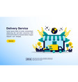 online cargo tracking delivery concept icon with vector image vector image
