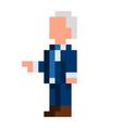 pixel democrat president - isolated vector image vector image