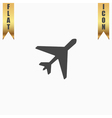Plane flat icon vector image vector image
