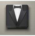Premium Icon tuxedo and bow-tie vector image