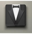 Premium Icon tuxedo and bow-tie vector image vector image
