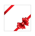 red ribbon bow 04 vector image