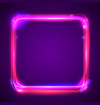round light frame shining square banner vector image vector image