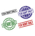 scratched textured for rent only seal stamps vector image vector image