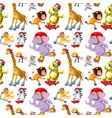 seamless animal pattern concept vector image vector image