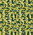 seamless pattern in camouflage style vector image vector image