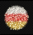 south ossetia flag sparkling badge vector image vector image