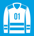sport uniform icon white vector image vector image