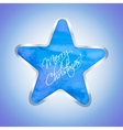 Star with Merry Christmas text vector image