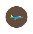 stylish icon in color circle travel airplane vector image vector image